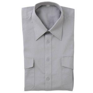 Pfadfinderhemd, grau, langer Arm