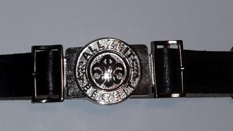 Pfadfindergürtel, Rundlilie, schwarz, Ring