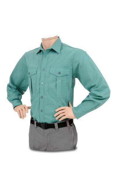 Ringhemd, flaschengrün, langer Arm