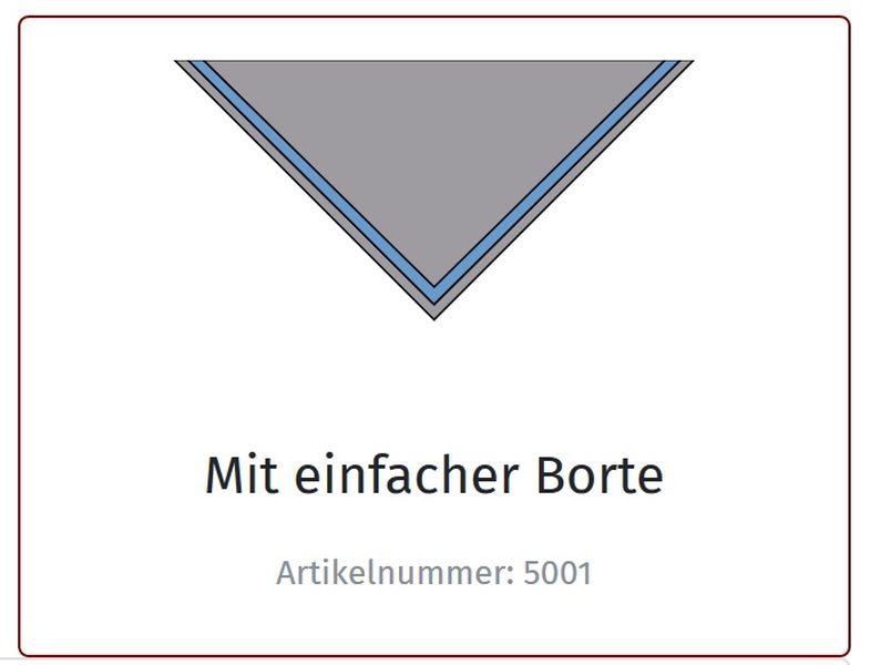 Halstuch, B. einfarbig, mit Borte
