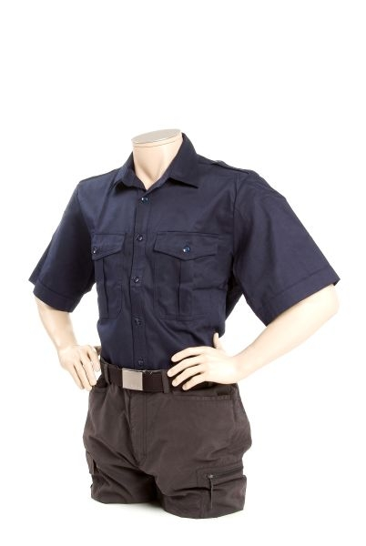 Klufthemd, dunkelblau - kurzer Arm -