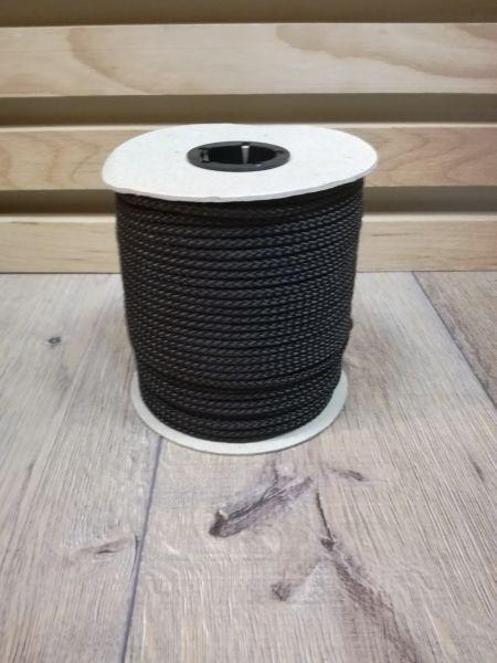 Seil aus Polypropylen, Ø 4 mm, schwarz - 100m