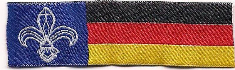 Deutschlandband mit Lilie