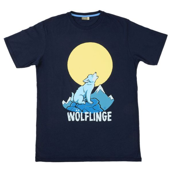 Wölflings-T-Shirt Heulender Wolf