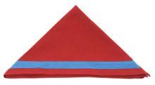 Bundeshalstuch bordeaux mit blauem Rand