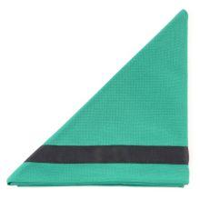 B.Biberhalstuch, grün/schwarzem Rand