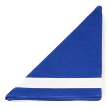 F.Mannschaftshalstuch, blau/weißer Rand