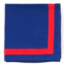 I.Bundeshalstuch, blau/roter Rand