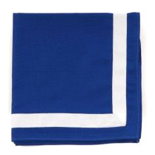 J.Mannschaftshalstuch, blau/weißer Rand