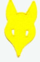 B. Rudelabzeichen - Wolfskopf gelb -
