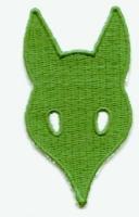 C. Rudelabzeichen - Wolfskopf grün -