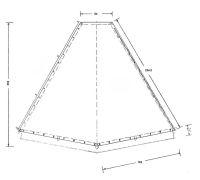 D.Kohtenplane mit 20 cm Erdstr.-285 g/m²,schwarz