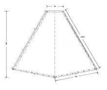 A.Kohtenplane mit Regenleiste-285 g/m²,schwarz