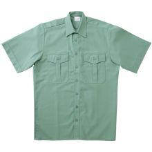 Ringhemd, flaschengrün, kurzarm