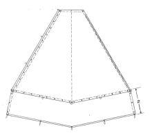 J.Kohtenplane mit 70 cm Erdstr.-285 g/m²,schwarz