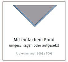 Halstuch, C. einfarbig, mit Rand -umlegt-