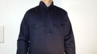 Schlupfhemd marineblau, langarm o. Schulterklappen