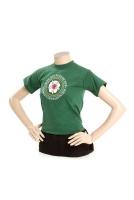 T-Shirt, mit aufgedrucktem Ringabz., grün