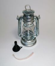 Petroleumlampe 20cm silber