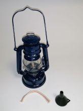 Petroleumlampe - 20 cm blau