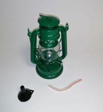Petroleumlampe - 20cm grün