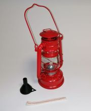 Petroleumlampe - 20cm rot