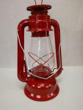 Petroleumlampe - 30cm, rot