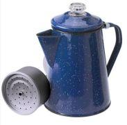 Kaffeekanne Emaille blau