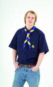 A. Bundeshemd, dunkelblau, kurzarm-Gr.S