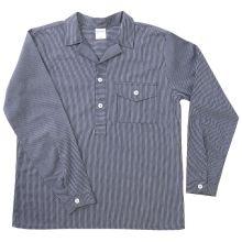 Fischerhemd, blau/weiß, langer Arm