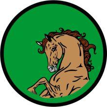 Aufnäher Sippenabzeichen Wildpferd 31-50
