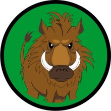 Aufnäher Sippenabzeichen Wildschwein 1-10