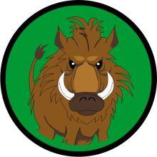 Aufnäher Sippenabzeichen Wildschwein 31-50