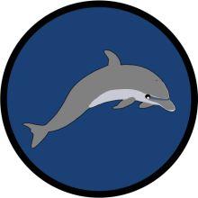 Aufnäher Sippenabzeichen Delphin 31-50