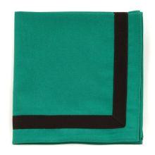 B. Biberhalstuch, grün/schwarz Rand - viereckig