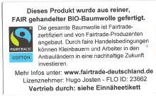 Takelbluse Bio/Fairtrade petrol/königsblau